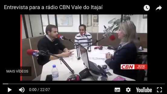 Diretor comercial do Kiper, Odirley Felício da Rocha, concede entrevista para rádio CBN Vale do Itajaí