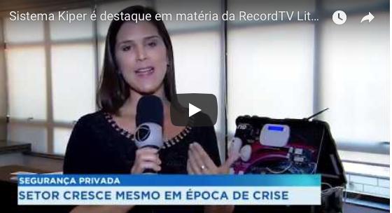 Sistema Kiper é destaque em matéria da RecordTV Litoral em Santos
