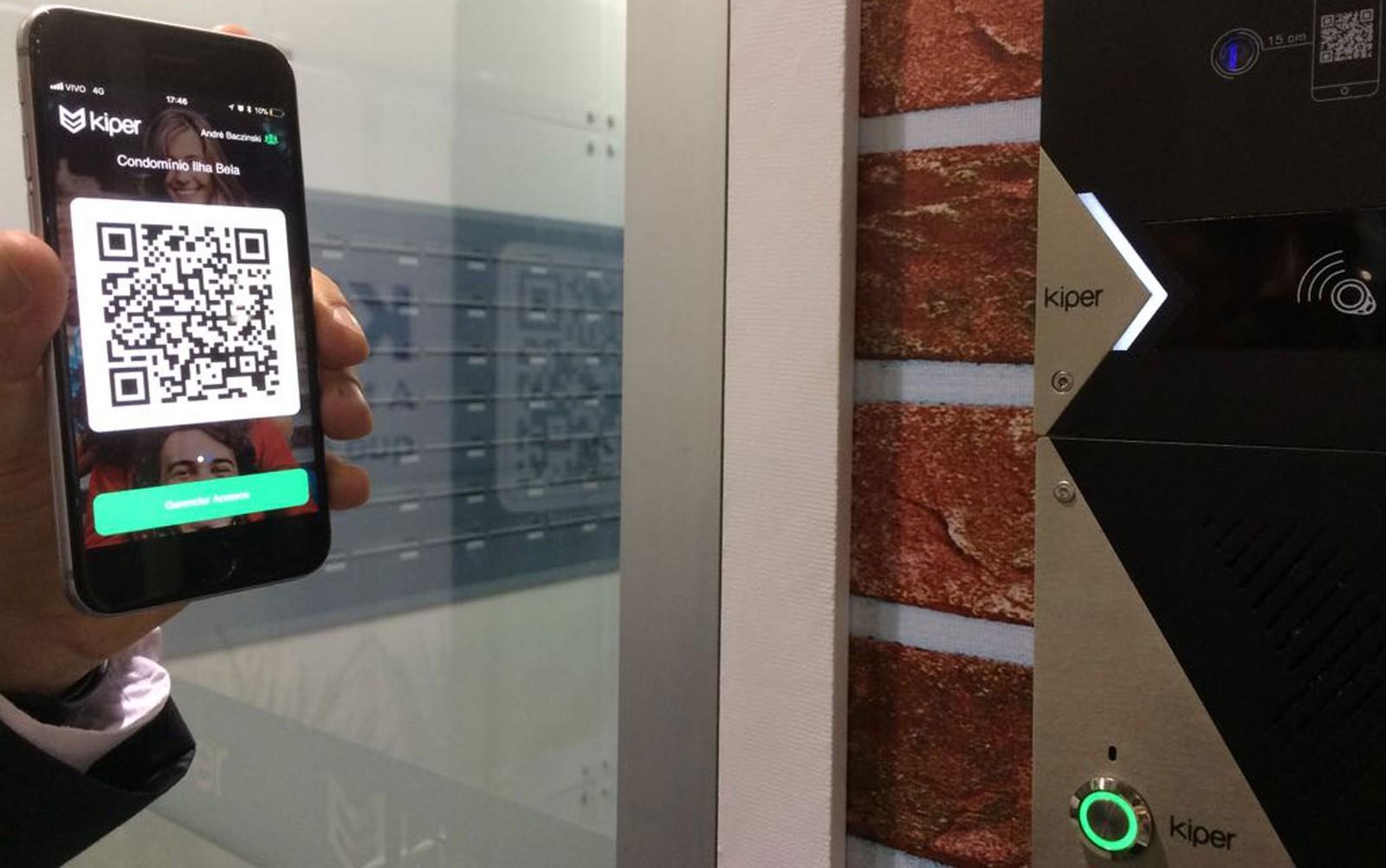 Aplicativo com QR Code Kiper permite acesso a condomínio