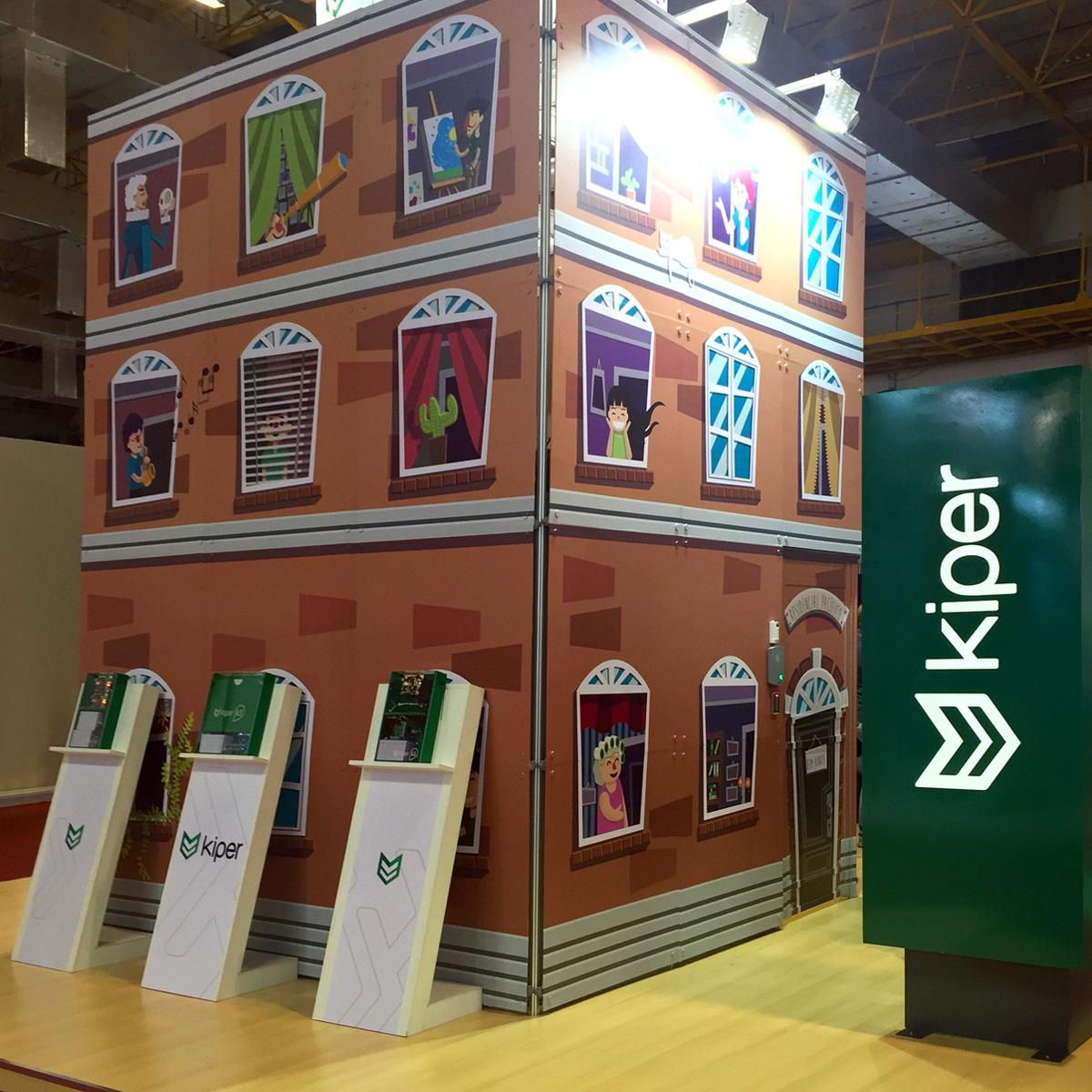 Kiper mostra sua grandeza instalando condomínio na feira e apresentando seu APP